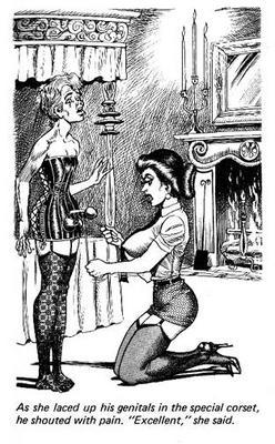 mistress laces up a sissy dick