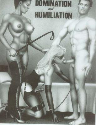 Domination and Humiliation. Chastized and blindfolded sissy in bondage forced to suck a cock.